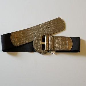 Accessories - Bronze/black belt